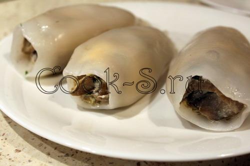 Фаршированные кальмары , пошаговый рецепт с фото