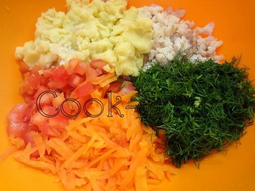 Овощные котлеты, пошаговый рецепт с фото