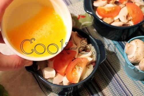 Рисовая запеканка с индейкой и сметанной заливкой – кулинарный рецепт