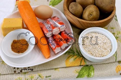 Нежные картофельные котлеты с отрубями – кулинарный рецепт