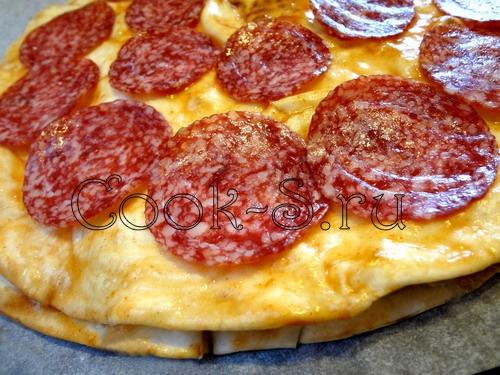 Пицца за 20 минут на тонком лаваше