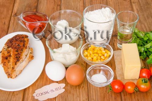 пицца на сковороде - ингредиенты