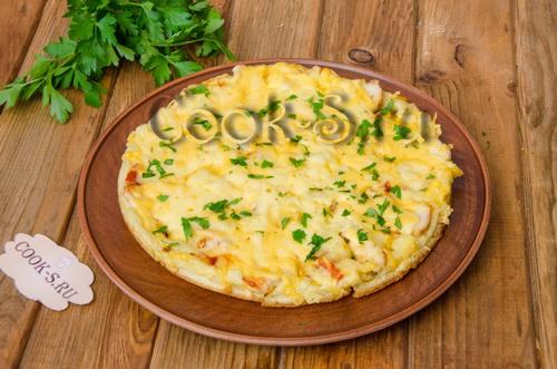 пицца на сковороде за 10 минут рецепт с фото