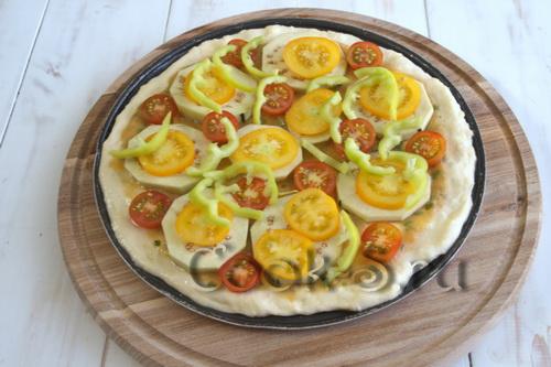 Пицца из цветной капусты с томатами и моцареллой, пошаговый рецепт с фото