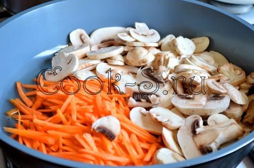 Чикенбургер с рисом и грибами – кулинарный рецепт