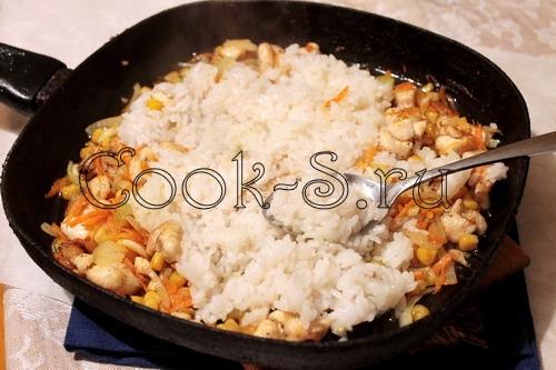 Рис с овощами и куриными ножками – кулинарный рецепт