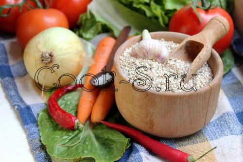 Ячневая каша с овощами – кулинарный рецепт