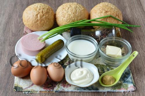 Булочки с яйцом в духовке - рецепт пошаговый с фото