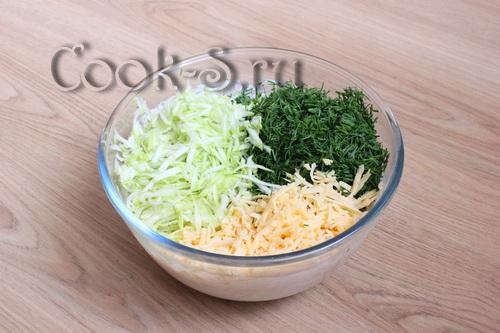 кабачок сыр зелень