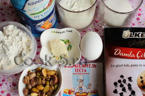 кекс на сгущенном молоке - ингредиенты