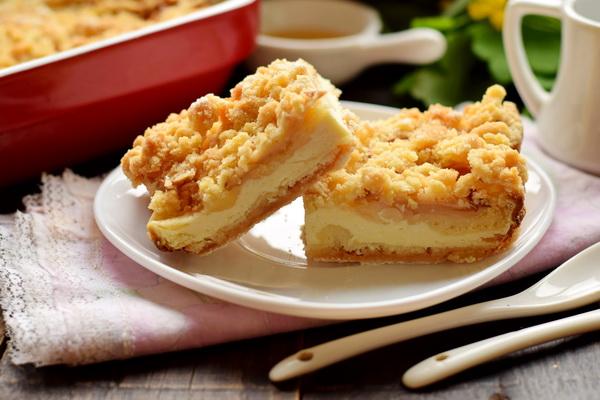 творожно-яблочный пирог рецепт с фото
