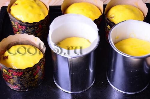 Кулич на желтках, пошаговый рецепт с фото
