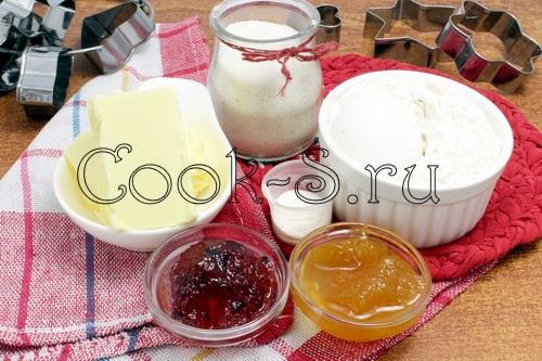 Овсяные снеки с джемом – кулинарный рецепт