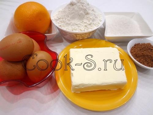 Мраморный шоколадно-апельсиновый кекс, пошаговый рецепт с фото