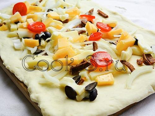 """Пицца-рулет """"Стромболи"""" – кулинарный рецепт"""