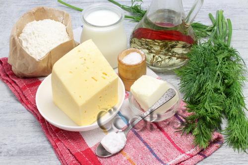 Сырные лепешки с зеленью, на кефире, пошаговый рецепт с фото
