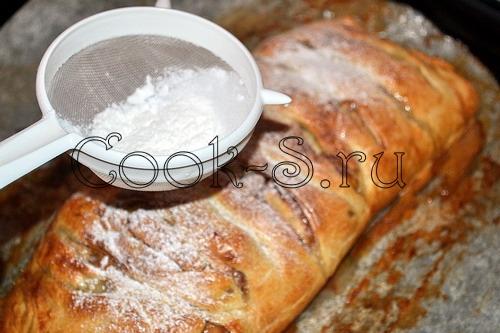 Грибной штрудель, пошаговый рецепт с фото