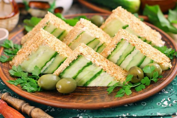 бутерброды пирамидки пошаговый рецепт с фото