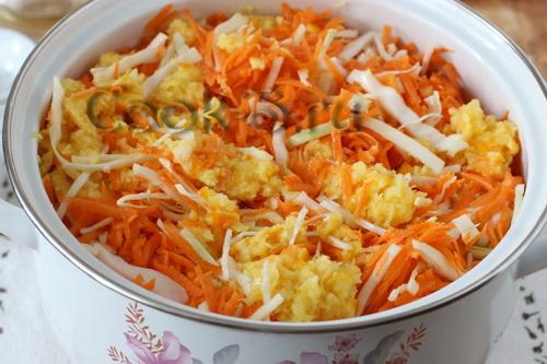 маринованная капуста с тыквой и апельсином