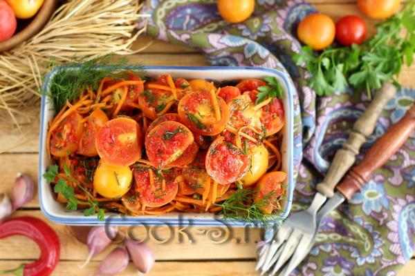 помидоры по-корейски быстрый рецепт с фото