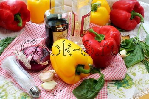 """Закуска из болгарского перца """"Радуга"""" – кулинарный рецепт"""